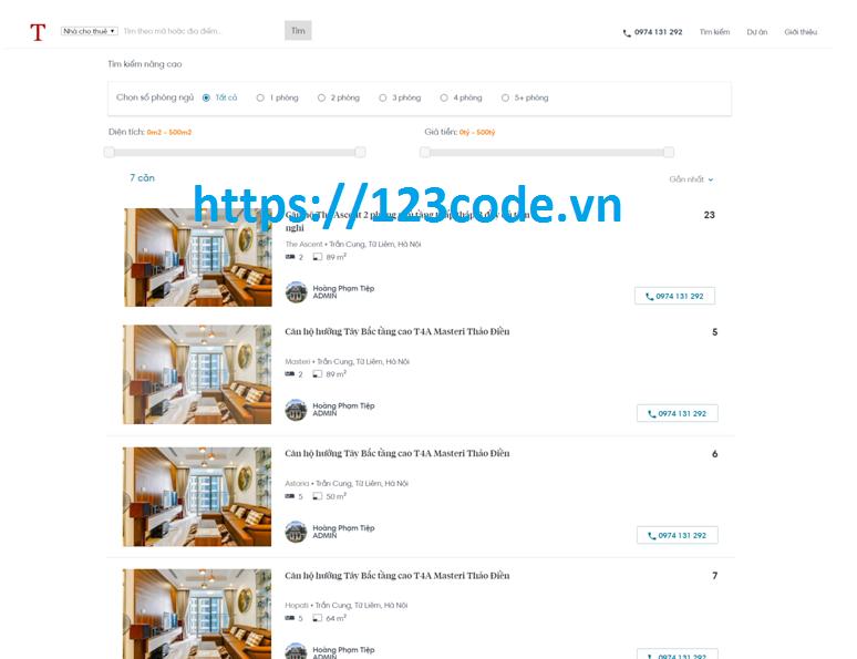 Source code website tin tức bất động sản asp.net MVC Full code và báo cáo