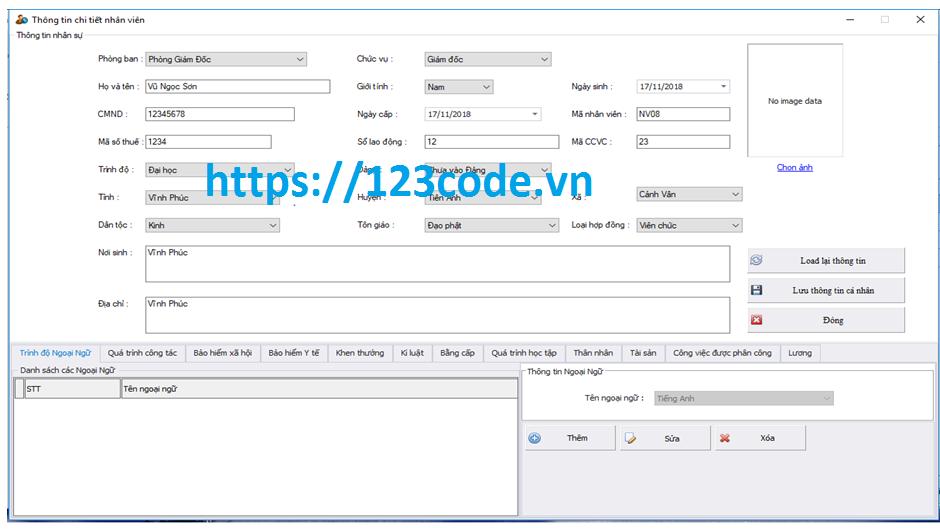 source code quản lý nhân sự c#