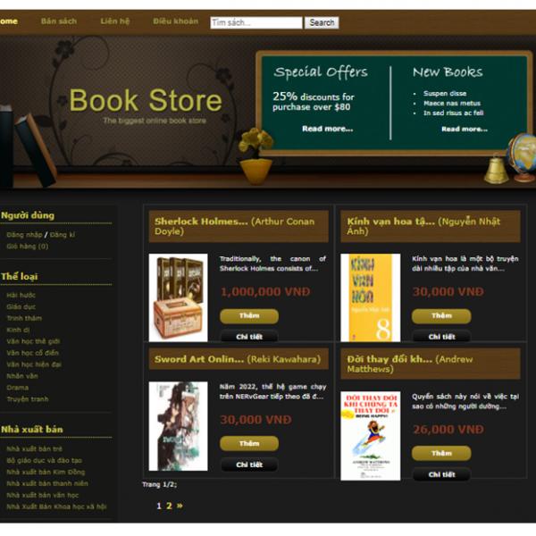 Đề tài quản lý bán sách asp.net mvc full code và báo cáo