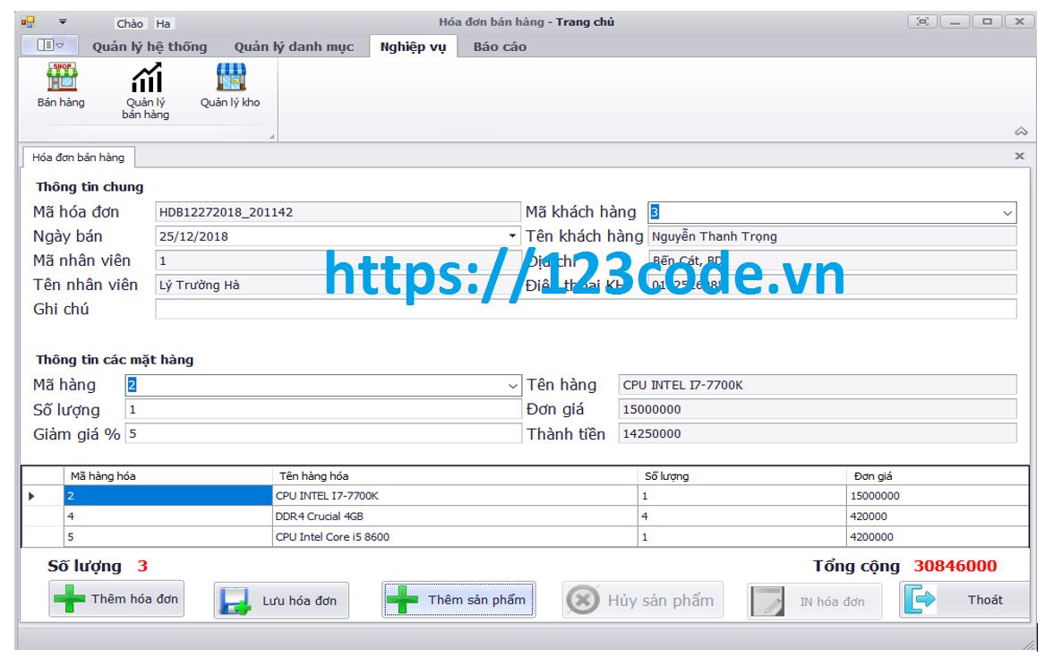 Chia sẻ đề tài quản lý cửa hàng bán máy tính c# full code và báo cáo