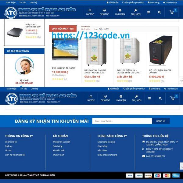 Chia sẻ miễn phí source code web bán hàng bằng wordpress chuẩn seo