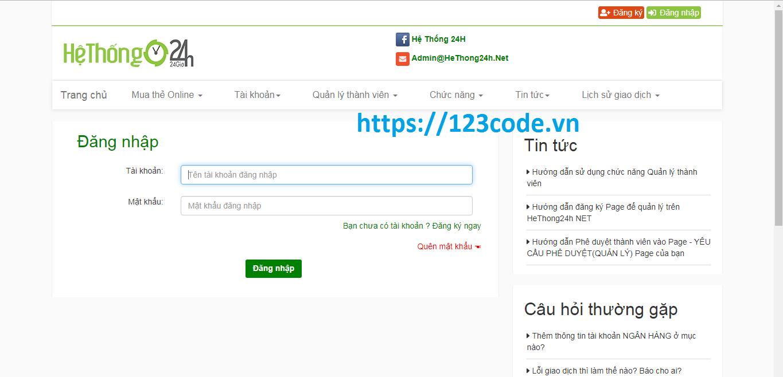 Chia sẻ source code mua bán thẻ cào php kèm báo cáo