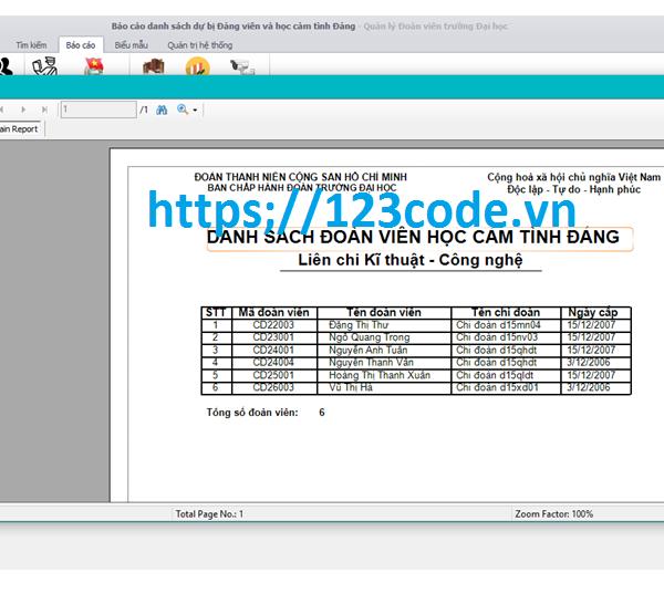 Chia sẻ source code quản lý đoàn viền trường đại học c# có báo cáo