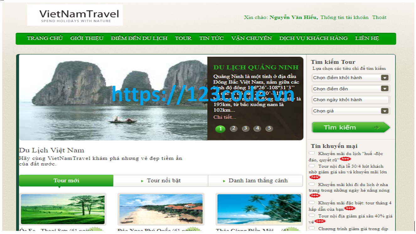 Chia sẻ source code quản lý tour du lịch asp.net có báo cáo kèm theo