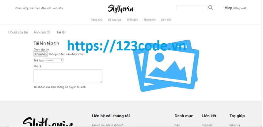 Chia sẻ source code website chia sẻ ảnh php có báo cáo