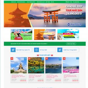 Chia sẻ source website tour du lich wordpress chuẩn seo miễn phí