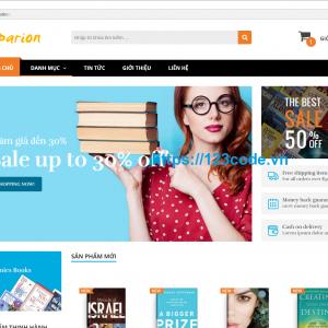 Share source code web bán sách online php thuần full chức năng