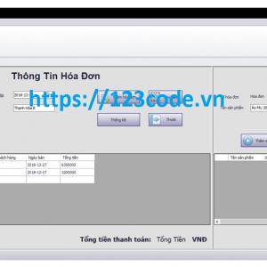 Source code đề tài quản lý bán hàng c# full code và báo cáo
