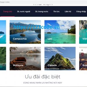 Source code website quản lý tour du lich php full data và báo cáo