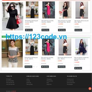 Tải source code website bán hàng quần áo Opencart có báo cáo