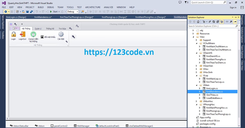 Báo cáo và source code phần mềm quản lý học sinh giáo viên THPT c#