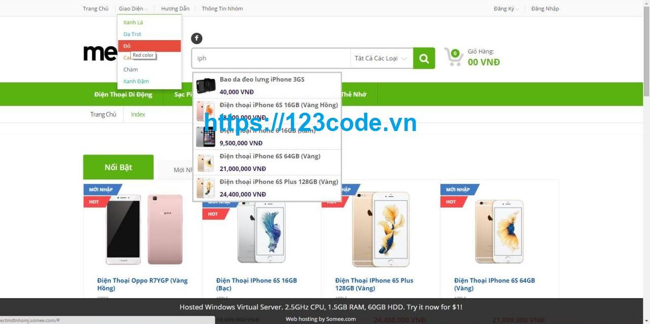 Chia sẻ miễn phí source code asp.net mvc bán hàng điện thoại