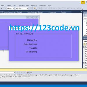 Source code hệ thống quản lý khách sạn c# có báo cáo