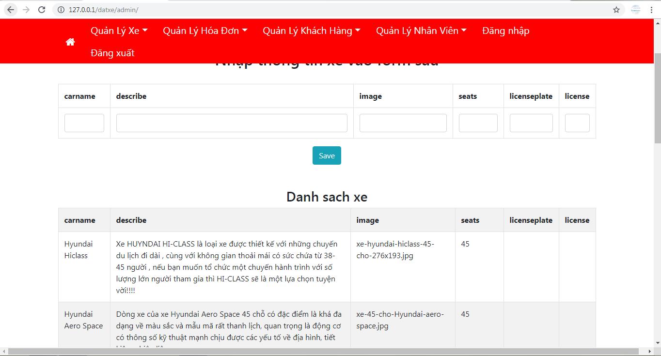 Source code website đặt xe du lịch online php thuần có báo cáo