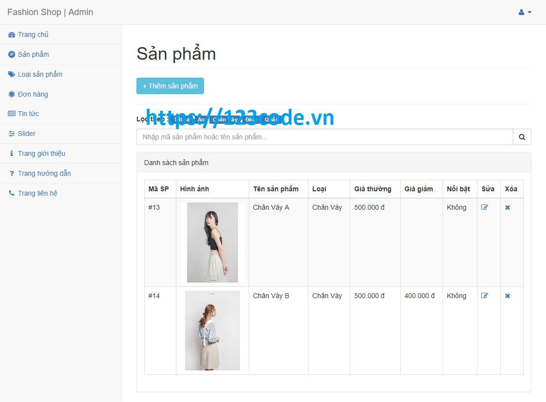 Tải source code web bán hàng php laravel có video hướng dẫn cài đặt
