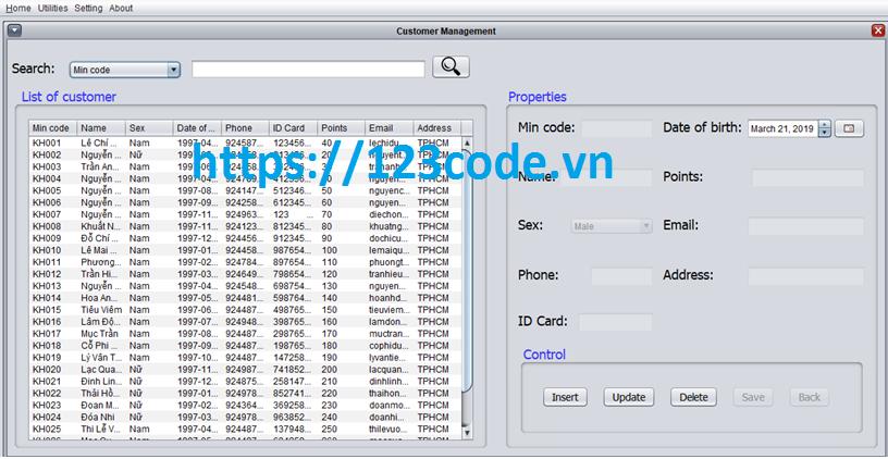 Source code ứng dụng quản lý cửa hàng java có báo cáo