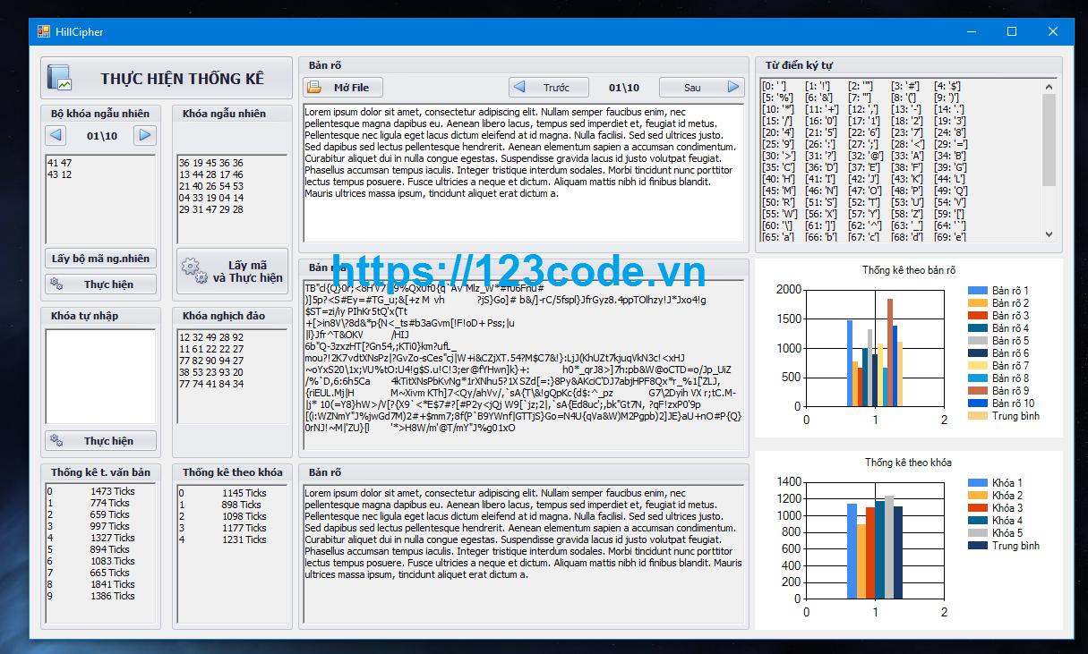 Source code mã hóa DES-TripleDES-Hill