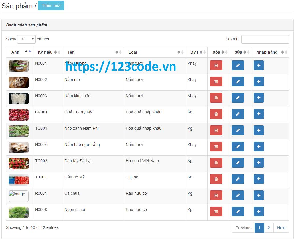 Chia sẻ miễn phí đồ án website quản lý bán hàng php laravel có báo cáo