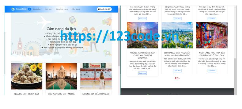 Báo cáo kèm source code website du lịch php Codeigniter Framework