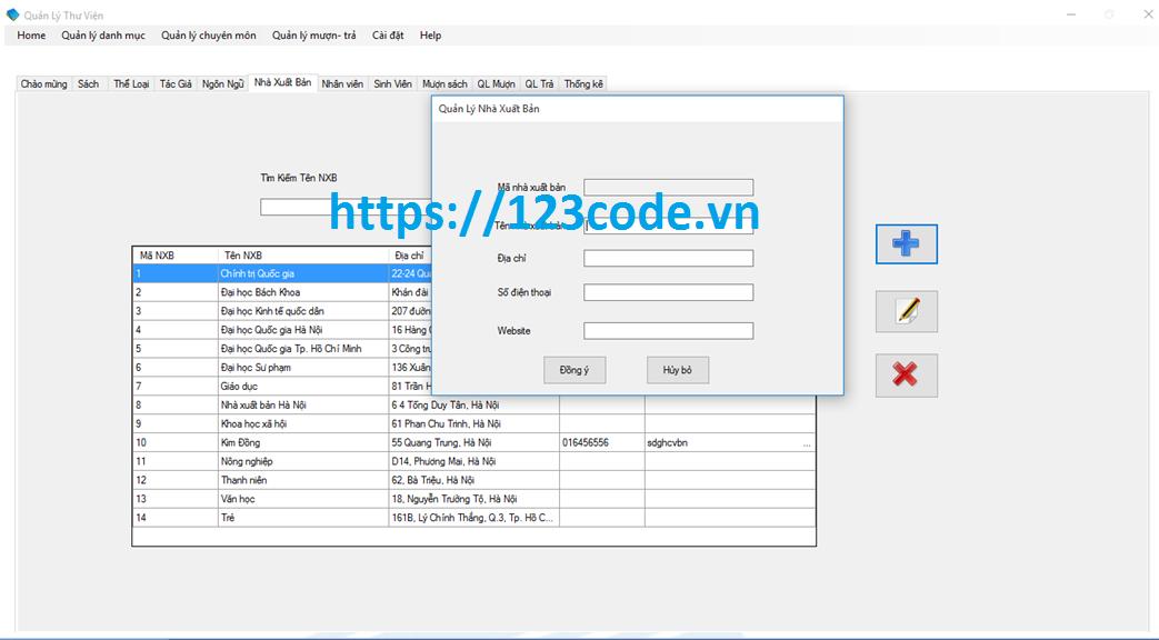 Báo cáo kèm code đồ án quản lý thư viện vb.net sql server