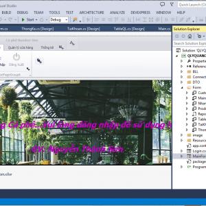 Báo cáo và code đề tài quản lý quán cà phê c# giao diện đẹp