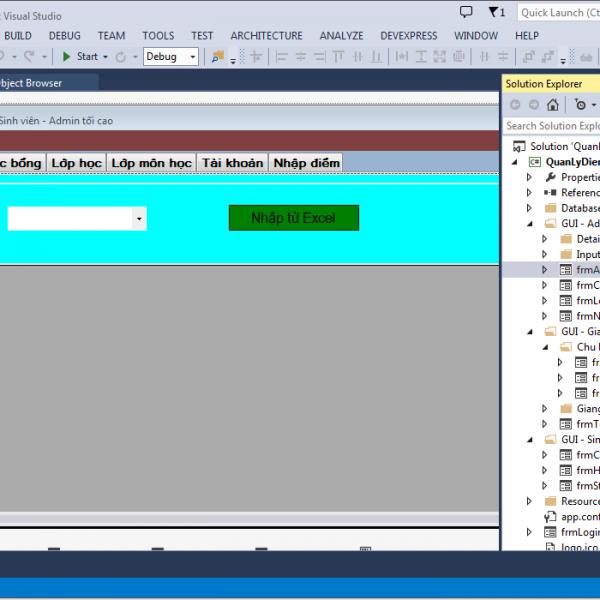 Code đồ án quản lý điểm sinh viên c# sql server có báo cáo