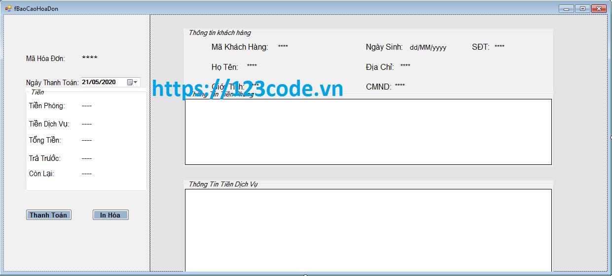 Code phần mềm quản lý khách sạn c# kết nối sql server