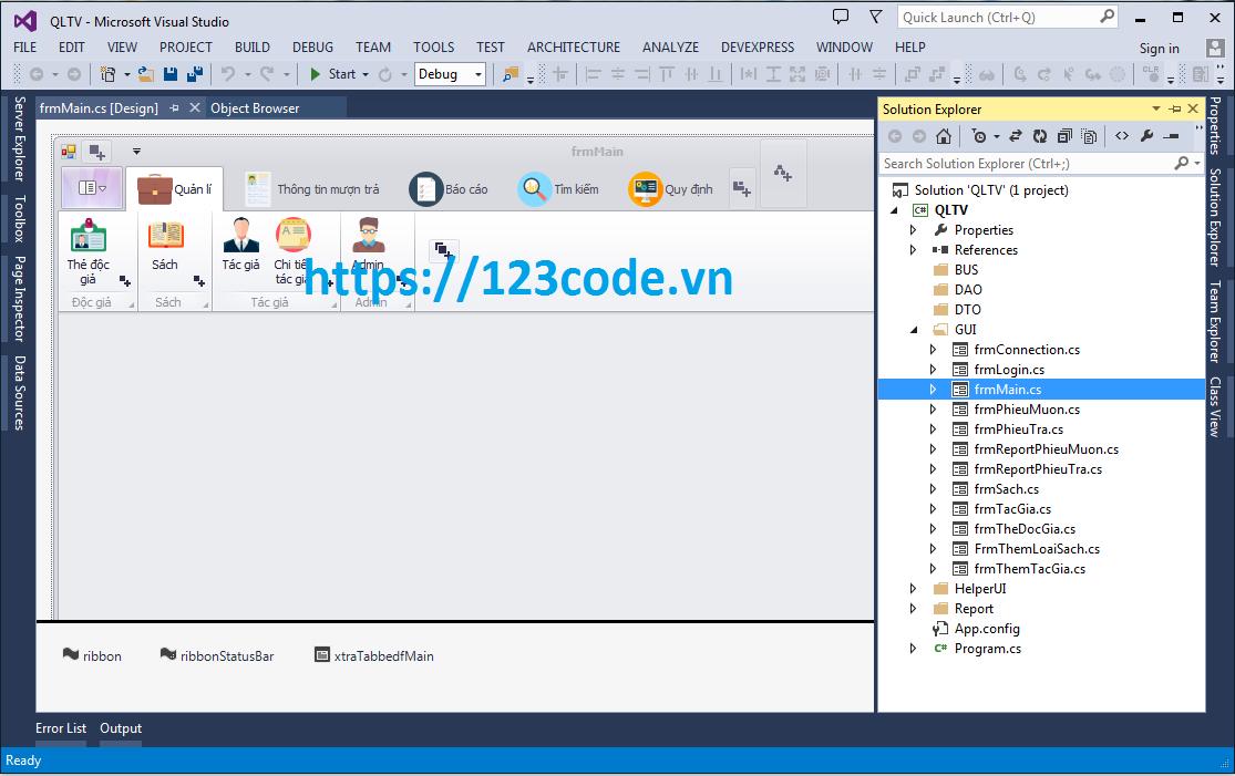 Source code đề tài quản lý thư viện c# full chức năng có báo cáo