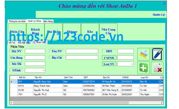 Source code chương trình quản lý chuỗi quần áo c# có báo cáo