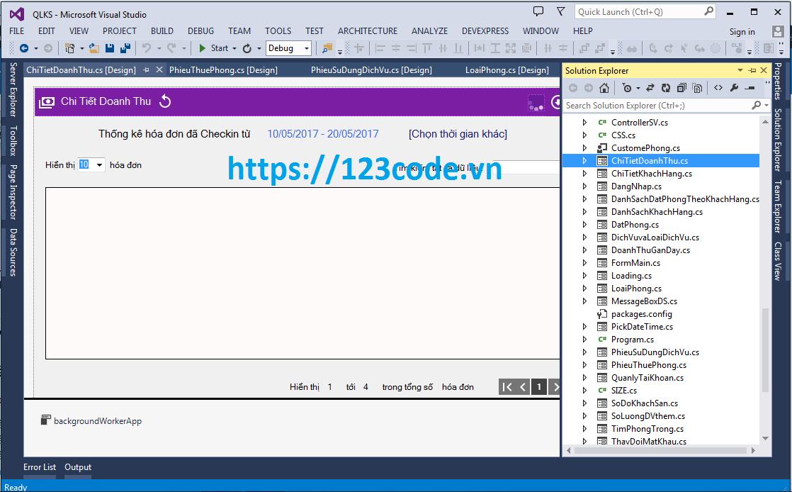 Source code quản lý khách sạn c# sql server giao diện đẹp