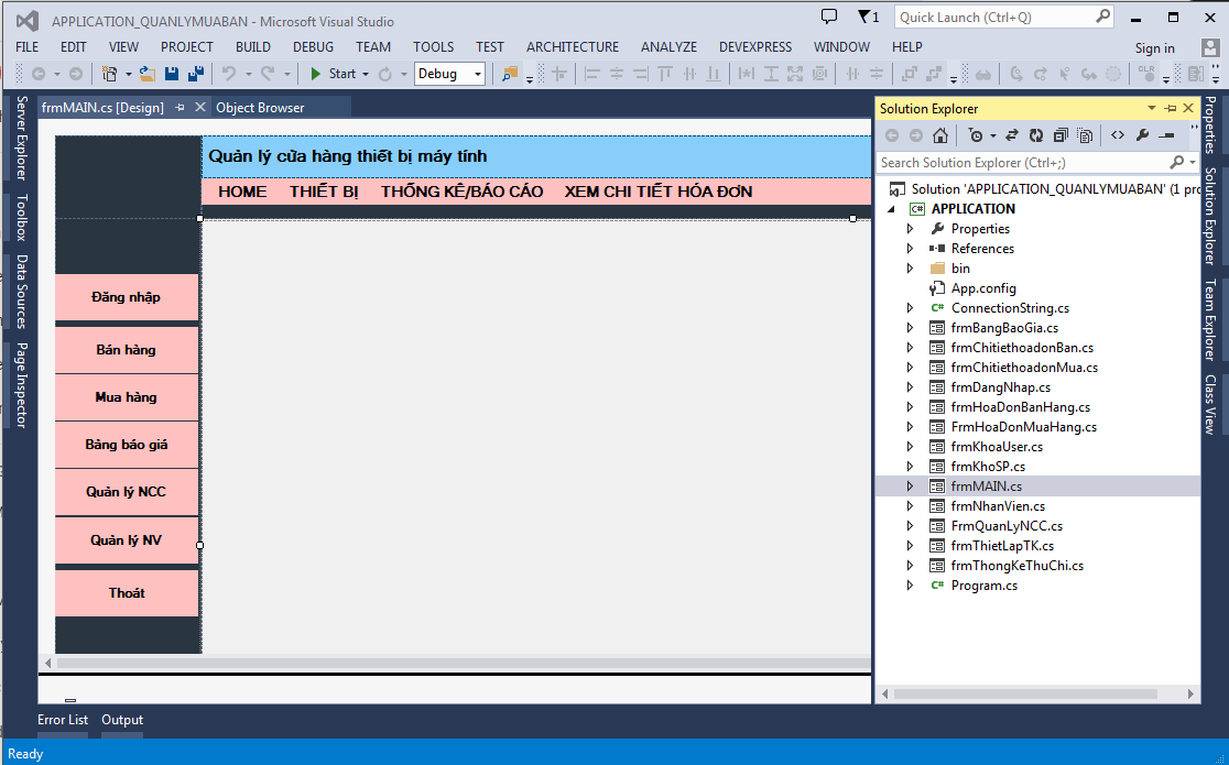 Source code quản lý mua bán c# sql server có báo cáo