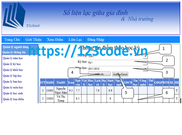 Đề tài tốt nghiệp website quản lý học sinh và liền lạc phụ huynh asp.net