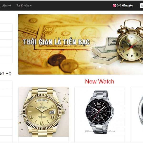 Xây dựng website bán đồng hồ asp.net mvc full báo cáo