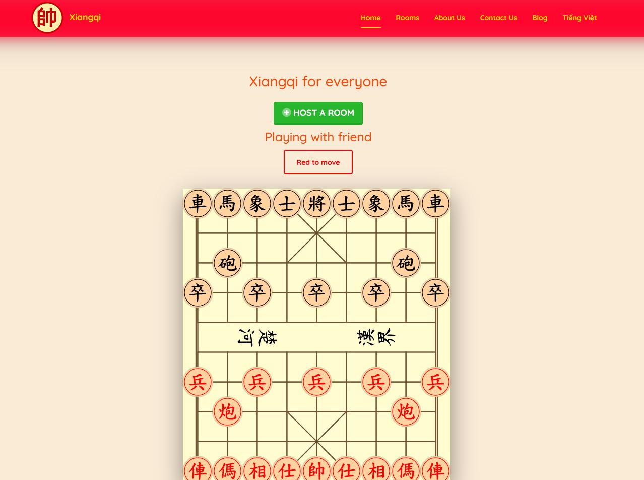 Source code game Cờ tướng viết bằng Laravel có chức năng tạo phòng và chơi với AI