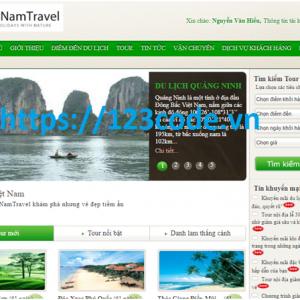 Báo cáo kèm source code website quản lý tour du lịch asp.net
