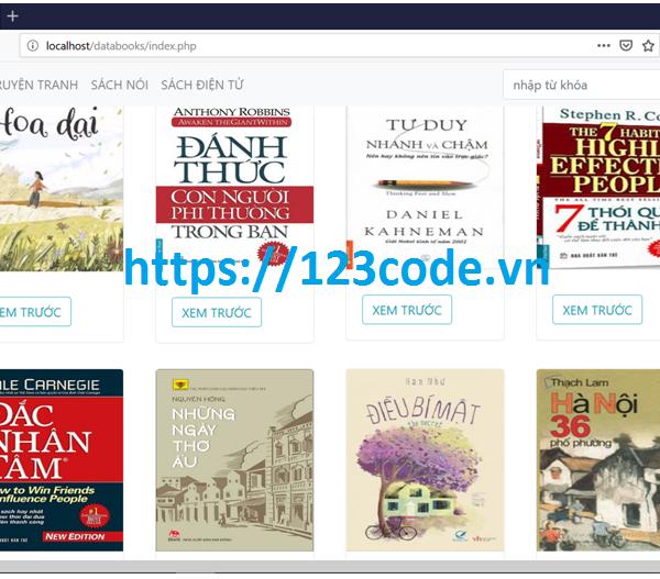 Source code đề tài website đọc sách php thuần có báo cáo