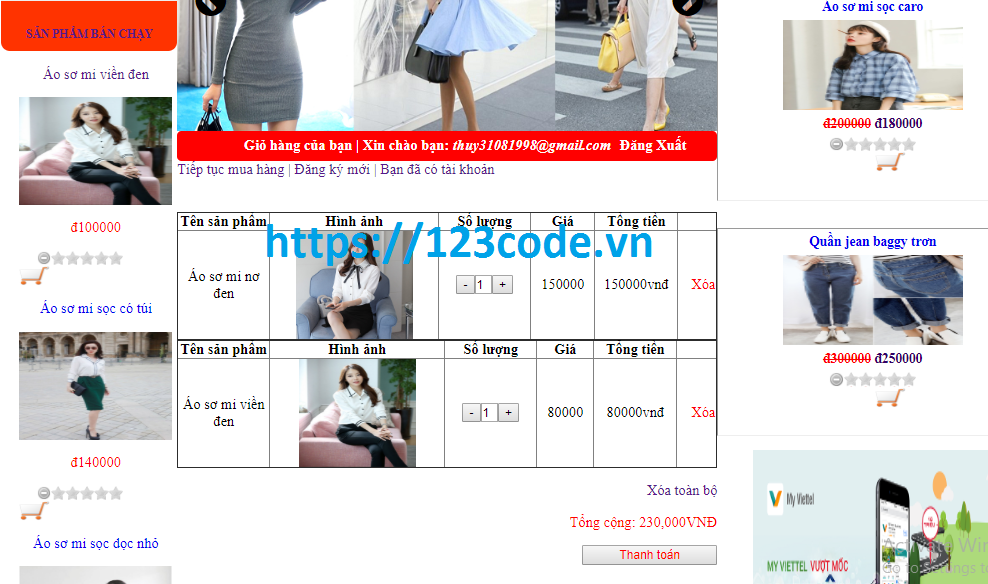 Source code đề tài website thời trang php thuần có báo cáo