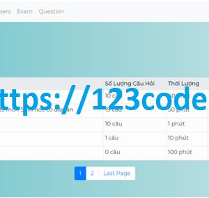Source code hệ thống trắc nghiệm online php thuần có báo cáo