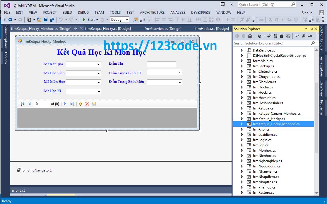 Source code phần mềm quản lý điểm học sinh THPT c# kết nối sql