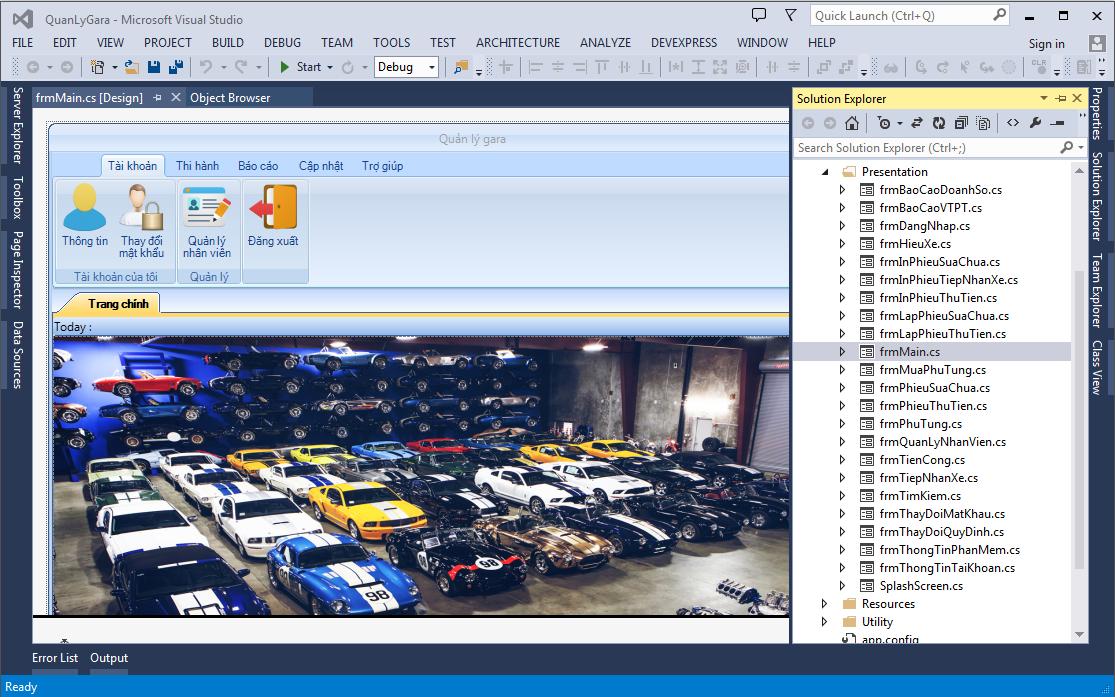 Source code phần mềm quản lý Gara oto full báo cáo