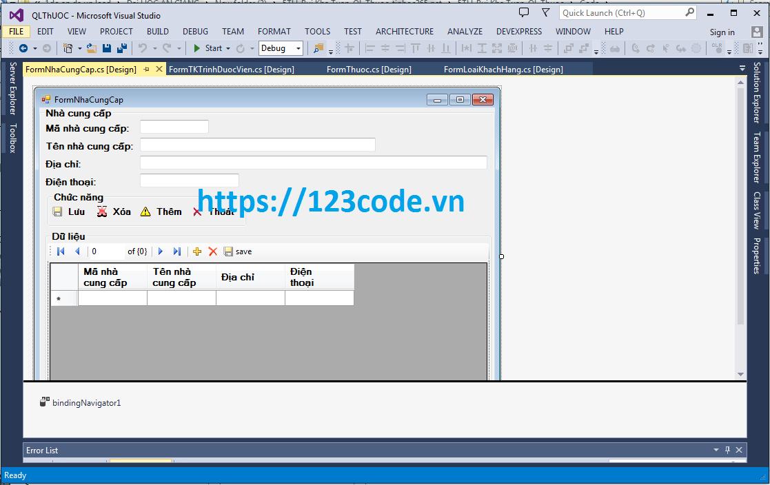 Source code phần mềm quản lý cửa hàng thuốc c# kết nối sql