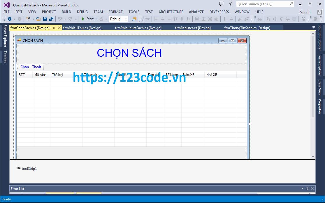 Source code phần mềm quản lý nhà sách c# kết nối sql