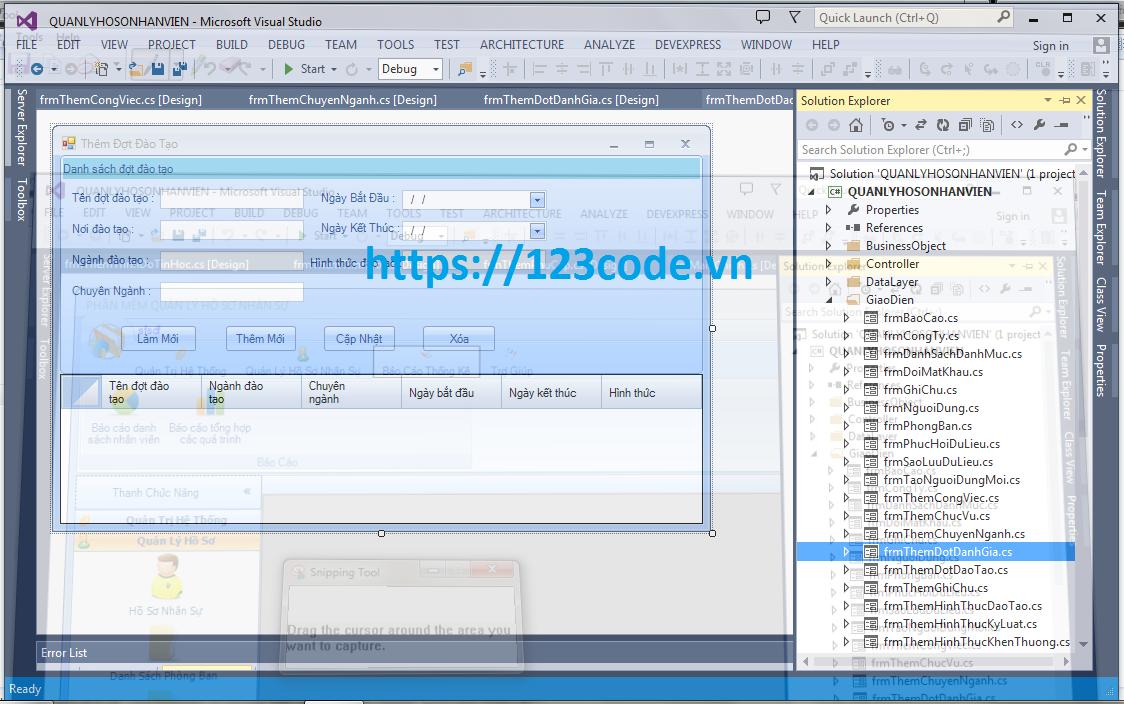 Source code phần mềm quản lý nhân sự c# kết nối sql cực hay