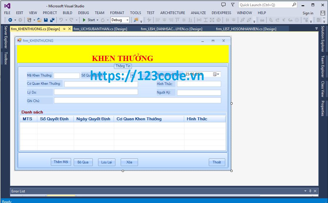 Source code phần mềm quản lý nhân sự tiền lương c# - Có báo cáo