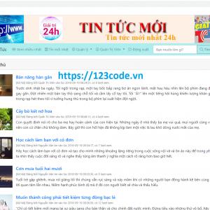 Tải miễn phí source code website tin tức php thuần