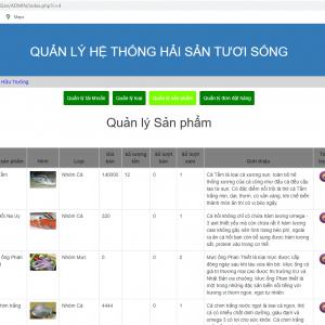 Tải source code website bán hải sản php thuần có hướng dẫn cài đặt