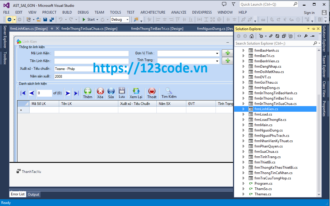Đồ án tốt nghiệp phần mềm quản lý sửa chữa bảo trì thiết bị c# có báo cáo