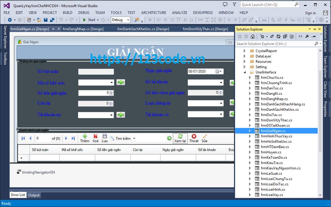 Luận văn tốt nghiệp phần mềm quản lý vay vốn ngân hàng c#