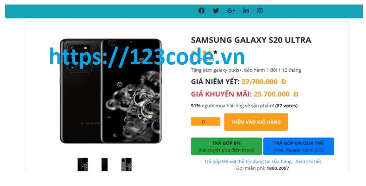 Source code đề tài website bán điện thoại di động php thuần có báo cáo
