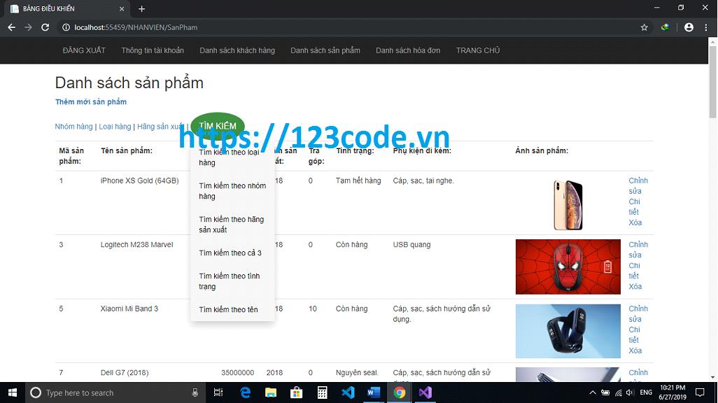 Source code đề tài website bán hàng điện thoại asp.net MVC full báo cáo